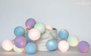 Cotton Ball Lights - Baby lavender 10 kul