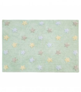 Lorena Canals - Dywan Tricolor Star Soft/Mint 120x160cm
