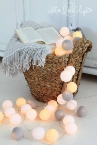 Cotton Ball Lights - by Green Canoe 50 kul